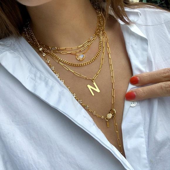 14K Gold Mini Paper Clip Chain